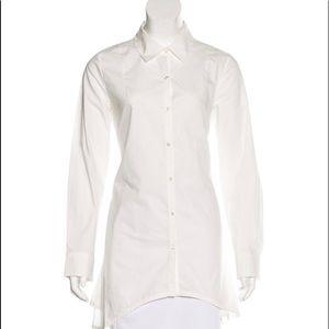 Derek Lam 10 Crosby LS Dual Sash Oxford shirt